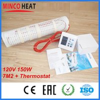 Wholesale M2 v W M2 Dual Core Teflon Floor Heating Mat Weekly Programmable Therm watts m2 can create maximum comfort level