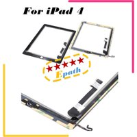 Wholesale For iPad Touch Screen Digitizer AAA Quality With home butoon White Black
