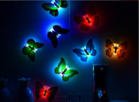 Wholesale Cheap self adhesive creative three dimensional luminous butterfly d butterfly decoration wall stickers d butterfly pvc removable wall stic