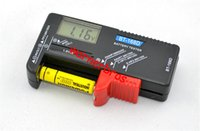 Wholesale 5PCS USA BT D BT168D LCD Display Digital Universal Battery Tester For V V Button Cell AAA AA C D power Capacity Checker