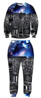 Wholesale Fashion DJ Personality Creative Men s Cool D Suit Tracksuit Performance Tracksuit Hip Hop Printing Pullover Suit