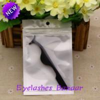 Wholesale black color stainless Eyelash tweezer clip Multifunctional Eyelashes Auxiliary Curler accessary eyelash comb