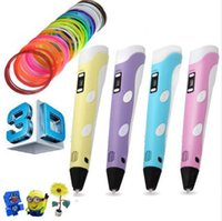 Wholesale 3D Printing Pen mm ABS PLA Smart D Pen Drawing Pen D Free Filament For Kids Christmas Birthday Gift Design Painting