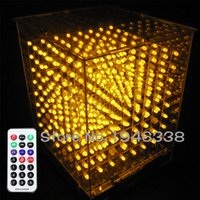 Wholesale DIY D S LED Light Cube With Animation Effects D CUBE x8x8 D LED Kits Junior D LED Display Christmas Gift