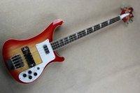 Wholesale Global popular instrumento musical cuerdas fuego Dulce rojo bajo guitarra envío libre