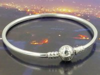Cheap 100% 925 Sterling Silver Bangle European Style Fashion Bnagle 925 Sterling Silver Jewelry Charm Bracelet Bangle Birthday Gifts