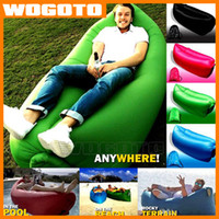 Cheap Lazy Sleeping Bag Bed Lamzac Hangout Fast Inflatable Lounger Air Sleep Camping Sofa KAISR Beach Nylon Fabric Chair outdoor