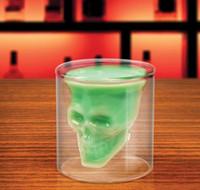 Wholesale Doomed Crystal Skull Shotglass Cups Head Vodka Shot Glass Cup Beer Wine Whisky Mug Drinkware ML Ounces Kitchen Dining Bar new
