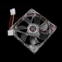 amd quad processors - 120mm Computer PC Clear Case Quad Blue LED Light CPU Cooling Fan V