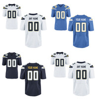 Wholesale HOT SALE Men s Diego Charger San Custom Elite Football Jerseys High Quality Stitched Any Name Number You Decide Three Colors Allowed
