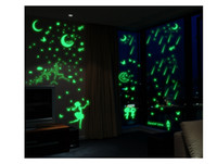 Wholesale Mix Order Eco friendly PVC Fluorescent Luminous Wall Sticker Glow in the Dark Stars Decorative Wall Decal for Kids Rooms Decoration Wall Art