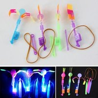 Wholesale Elastic Toy Gift Flash Rotating Flying Arrow Rocket Helicopter LED Light FZ1003