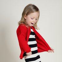 Wholesale New Casual Baby Knitted Sweater V Neck Girl Cardigan Clothing