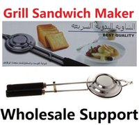 Wholesale New Grill Sandwich Snacks Desserts Maker Cooker Press Toast Machine Cooking Pan Tool Outdoor Camping Campfire BBQ