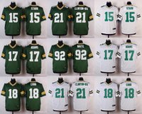 bart starr - football jerseys Bart Starr Davante Adams Randall Cobb Ha Ha ClintonDix Reggie White elite Stitched jerseys White blue