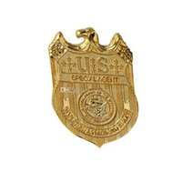 african american plays - 12 pices Hot Sale New Arrival Badge Gold Plated Replica Waist Badge Pin Fashion sitcoms Navy NCIS Metal Badge TV Play Props