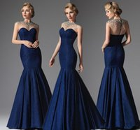 bandage dresses online - Long Evening Formal Gowns Online For Women Sexy Crew Cap Sleeve Crystal Beaded Mermaid Floor Length Mother Of The Brides Dress
