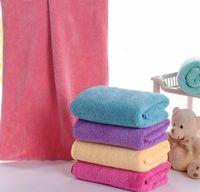 bathing towel holder - New Soft Thick Big Coral Fleece Microfiber Magic Quick Dry Bath Hair Bathing Towel Turban Hat Ponytail Salon Holder Cap Towel