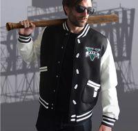 auto uniforms - Rockstar Games Game Fans Gift grand theft auto Cosplay Costume Hoodie Rider dress baseball uniform Zipper size M XXXL Autumn Winter