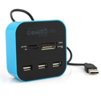 author card - Hot Sale Ports USB Hub Combo with Micro Multi Card Reader for SD MMC M2 MS MP Cheap reader author