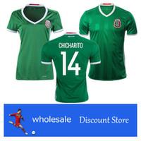 Wholesale 2016 European Cup Mexico national team little pea Soccer Jersey outdoor sports wear Aquino Santos football shirt