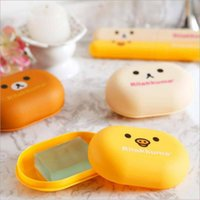 bear soap dish - lovely Bear Pattern Home travel Soap Dishes waterproof leakproof soap holder soap box with Cover bathroom sets