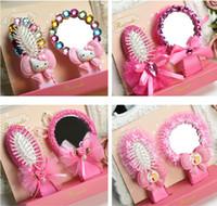 beauty salon kids - Beauty Salon Hair Brush Kids Girls Hair Comb With Mirror Carttoon Princess Accessories S L