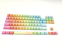 Wholesale Side printed Top printed Blank Key Rainbow PBT Keycaps Keycaps For OEM Cherry MX Switches Mechanical Gaming Keyboard