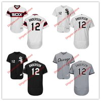 anderson baseball - 12 Tim Anderson Jersey MLB Baseball Chicago White Sox Jerseys Flexbase Red Black Grey White Cream size XL XL