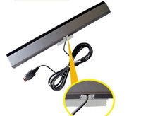 Wholesale Wired Remote Motion Sensor Bar Infrared Ray IR Inductor for Nintendo Wii WiiU DHL FEDEX