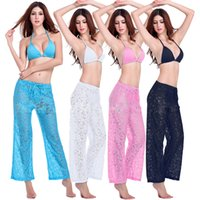 beach slacks - Prettybaby Transparent Lace Sexy women upscale full lace straight slacks and comfortable breathable beach pants