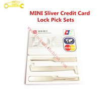 auto credit - 2016 Hot Sale Mini Sliver Credit Card Lock Pick Sets Locksmith Tools Unlock Pick Picking Padlock