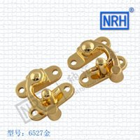 bags hardware buckles - 6527A Cameroon hook left and right gift box lock buckle bags hasp NRH hardware box alloy buckle pairs