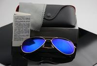 Wholesale High quality Brand Designer Fashion Mirror Men Women Polit Polarized Sunglasses UV400 Vintage Sport Sun glasses With box and cases