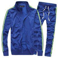 Wholesale TZ15 Best Selling Spring Autumn Solid Casual Slim Suit Men Plus Size M XL Mens Suit Sweatshirt Mens Tracksuit Set