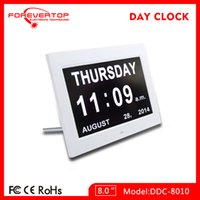 battery backup alarm clock - Shen zhen factory supply Day Clock The Original Impaired Vision Digital Clock with Alarm Function and Battery Backup