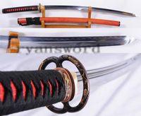 antique rosewood box - 1095 Carbon Steel Unokubi Zukuri Double Edges Rosewood Saya Samurai Sword