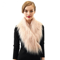 Wholesale Winter faux fur shawls and scarfs women pashmina Fashion warm women scarf Brand store Black White Grey Pink Beige