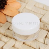 Wholesale 50pcs Eyeshadow Makeup Face Cream Container Portable Cosmetic White Empty Jar Pot New pot and pan holder