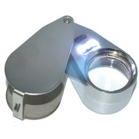 Wholesale 40X mm LED Jewelry Magnifier Magnifing Loupe LED Light