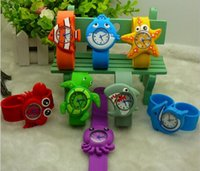 Wholesale 10pcs New Sea Ocean crab starfish shark octopus cute Watches Fashion Children Watch Girls Kids Students Silicone Sports Wristwatches Gifts