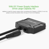 Wholesale Ugreen Sata to USB Adapter Cable Hard Disk Driver SSD Sata HDD Converter with Power Adapter for IOS Win7 Win8 Win10 XP
