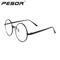 Wholesale New Arrival Fashion Men Glasses Frame Branded Metal Silm Legs Sliver Plain Glasses Oculos De Grau Feminino
