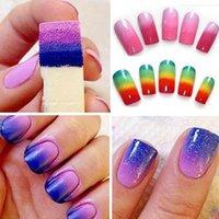 Wholesale 8pcs DIY Design Nail Art Sponge Stamp Stamping Polish Transfer Manicure Supplies