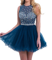 Wholesale 2016 New Custom Made Beads Short Women s Homecoming Dresses Back Hollow Mini Big Girls Sexy Fashion Cocktail Prom Party Gowns
