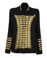baroque jacket - 2016 womens ladies females Balmain Baroque punk buttons retro luxury winter woolen jacket Watkins shrug gold star outwear