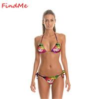 bandages for cats - 2016 Brazilian Sexy Women s Cat Print Swimsuits Bandage Triang Bikini Swimwear Bikinis Set Women Beachwear Bathing Suits for Sale