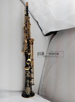 Wholesale Big sale France Henri selmer B soprano saxophone Super action series II gold bonded black body