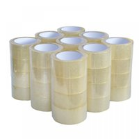 Wholesale 36 Rolls Clear Packaging Box Sealing Adhesive Tape Transparent Adhesive Elastic Cohesive Tape quot x110 Yards ft