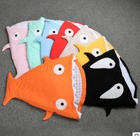 Wholesale Shark Baby sleeping bags Ins Winter baby blanket ChumBuddy Sleeping Bag Envelope cotton quilt for years kids Comfort